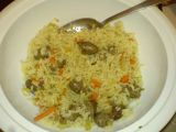 Zapečená rýže s kuřecími srdíčky recept