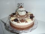 Tříčokoládový dort recept
