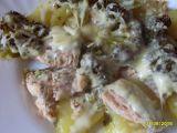 Losos zapečený s brambory a brokolicí recept