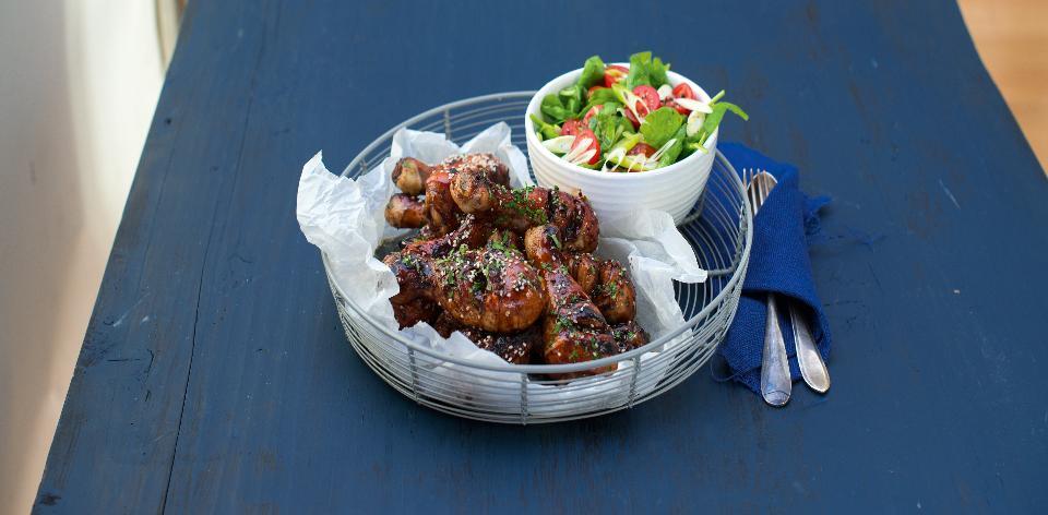 Medové kuřecí paličky