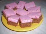 Buchta s malinovo-smetanovým želé recept