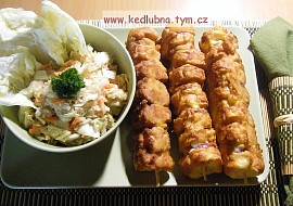 Rohlíkové špízy  levná večeře recept