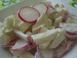 Ředkvičkový salát s jablky recept