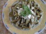 Salát ze zelených fazolek s křenem recept