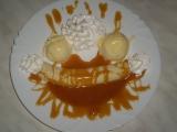 Bánán v karamelu s vanilkovou zmrzlinou recept