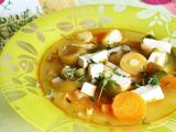 Zeleninová polévka s tofu recept