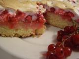 Medový rybízový koláč recept