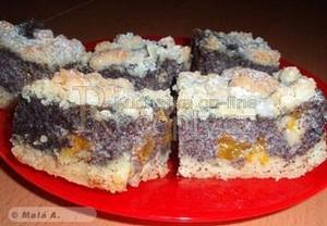 Křehký, výjimečně dobrý makový koláč