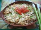 Špagety zapékané se sýrem recept