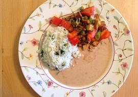 Vegan čína s arašídovou omáčkou recept