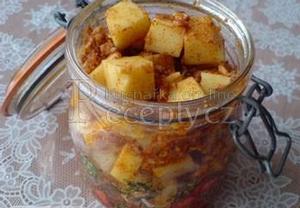Nakládané sýrové kostky