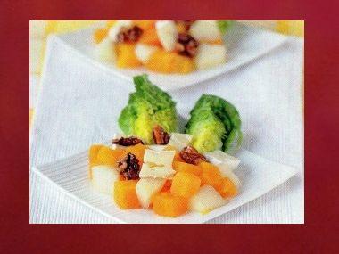 Salát s dýní a kozím sýrem
