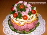 Salámový dort recept