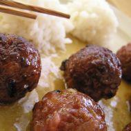 Thajské kuličky s pikantní omáčkou recept