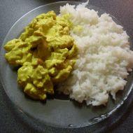 Kuřecí maso na kari se smetanou recept