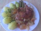 Kuřecí stehna v zelenině recept
