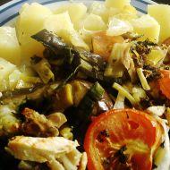Lilek zapečený s kuřecím masem recept