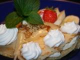Palačinky s tvarohem, banány a javorovým sirupem recept ...
