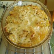 Zapečené brambory s kuřecím masem a květákem recept