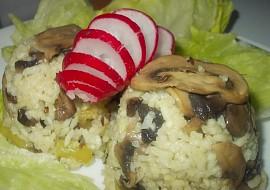 Houbovo  ředkvičkové rizoto s paprikami recept