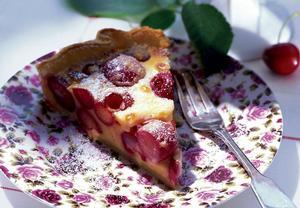 Tvarohový koláč s třešněmi II.