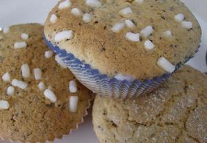 Makovo-citronové muffinky s pohankovou moukou