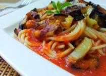 Špagety s rozmarýnovo-pistáciovou posypkou recept