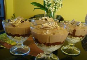Čokoládovo-tvarohový pohár