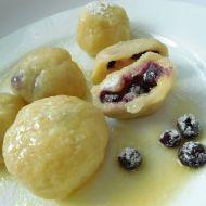 Plněné borůvkové knedlíky recept