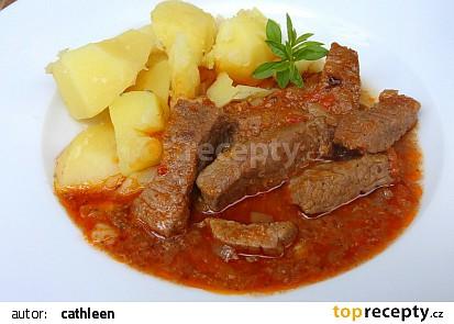 Minutkový hovězí guláš recept