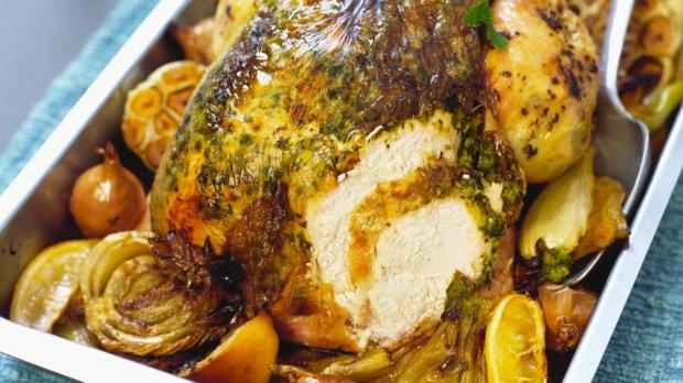 Pečené kuře s fenyklem a zázvorem