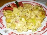 Uvařené brambory s nivou recept