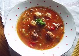 Vydatná polévka s opečenými masovými knedlíčky recept ...