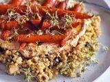 Pohanka s humusem a pečenou mrkví recept