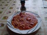 Fazolová chilli pánev recept
