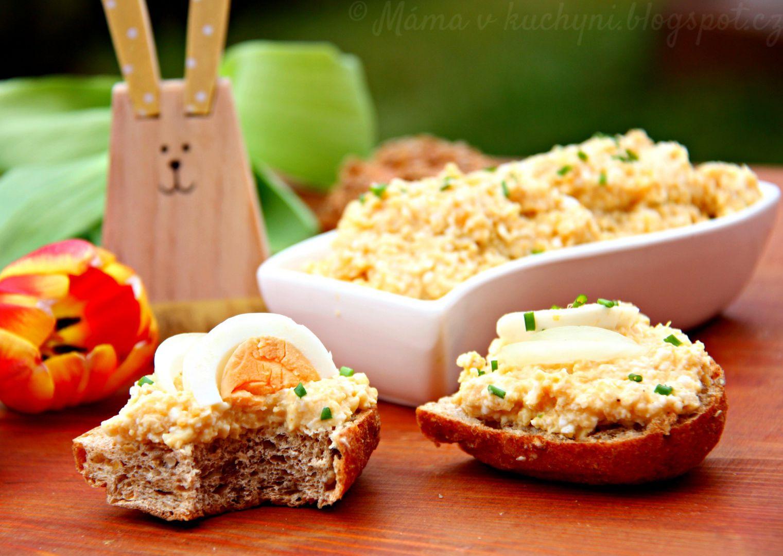 Cizrnovo-vajíčková pomazánka recept