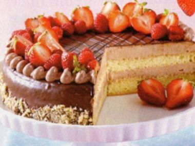Nugátový dort  bez vážení
