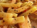 Kuřecí nugety s kedlubnovými hranolky recept