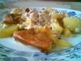 Rybí filé zapečené s bramborem, houbama a zázvorem recept ...