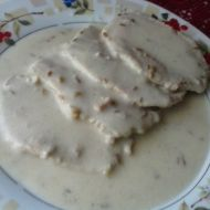 Vepřové plátky s česnekem na smetaně recept