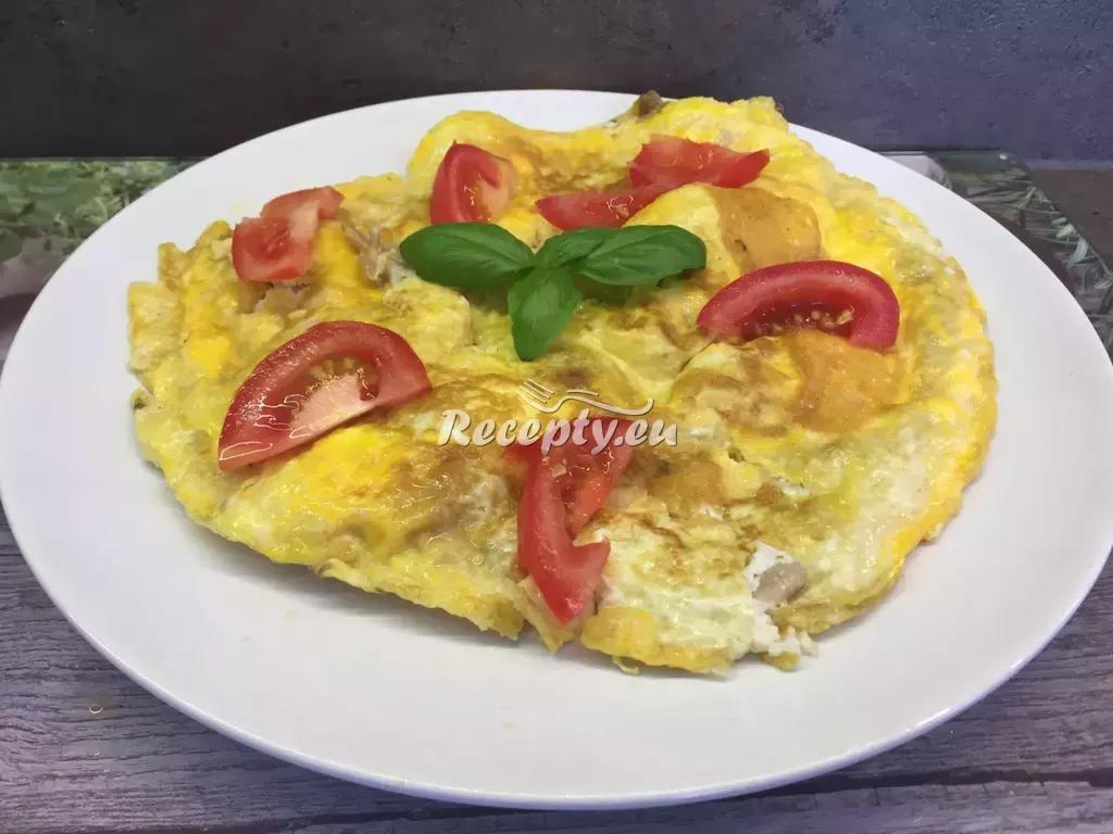 Selská omeleta recept  jídla z vajec