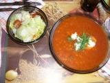 Rajská polévka s kroupami recept