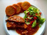 Vepřové v hrubozrnné hořčici s bramboráčky recept