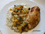 Kuře pečené na zelenině s hořčičnou moukou recept