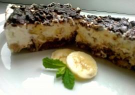 """Banánový """"cheesecake s čokoládou a rumem recept"""