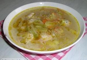 Pórková polévka s drožďovými knedlíčky