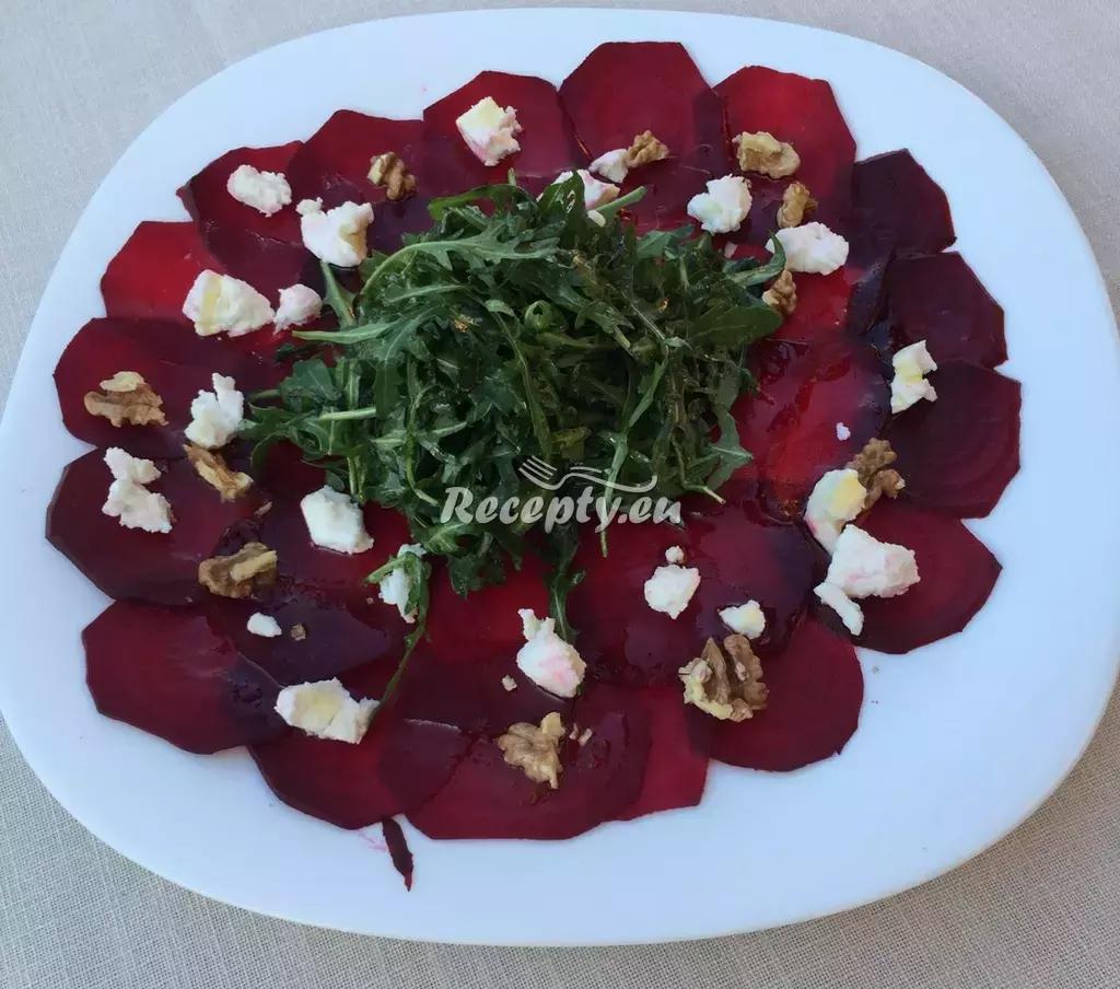 Carpaccio z červené řepy s medovým dresinkem recept  zeleninové ...