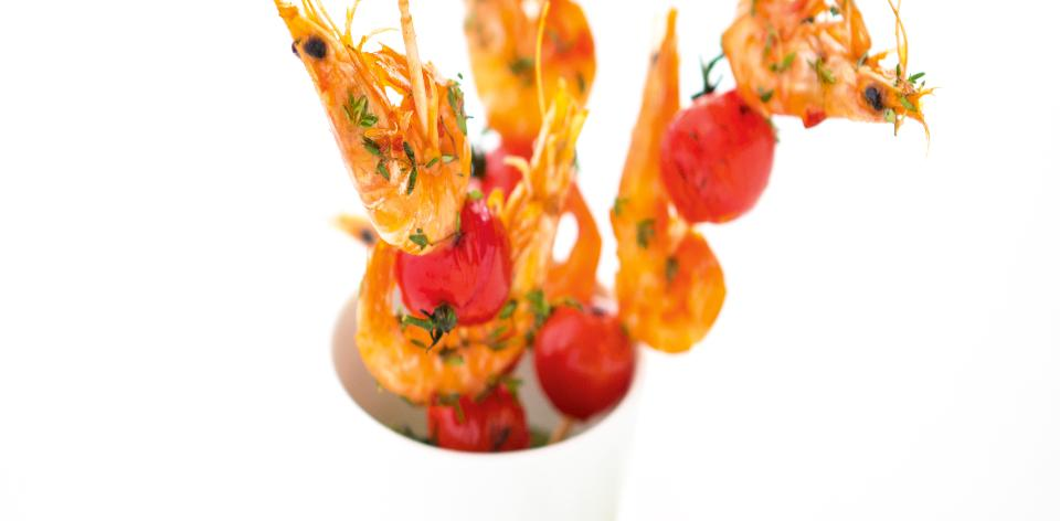Grilované krevety na špízu
