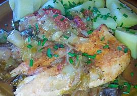 Kuřecí prsa pečená se zeleninou recept