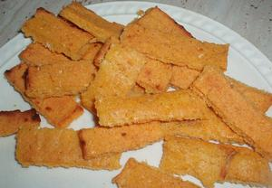 Křupavé polentové hranolky
